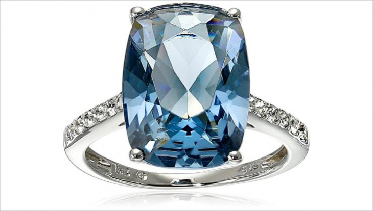 blue crystal ring design