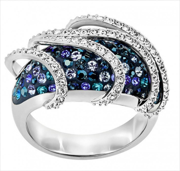 beautiful crystal ring design