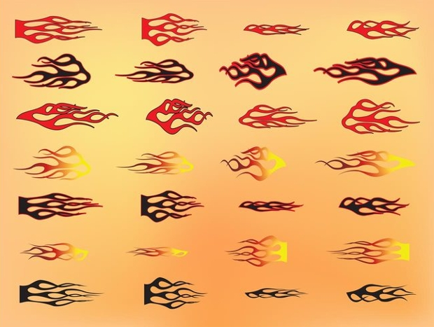 tribal flames vector