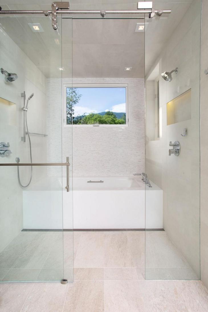 White Shower Room Design