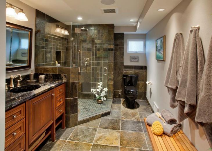 Laminate Tiles Shower Room Design