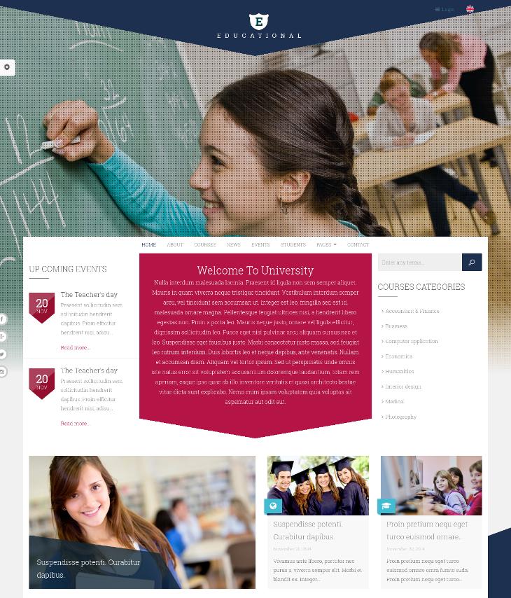 education training drupal theme