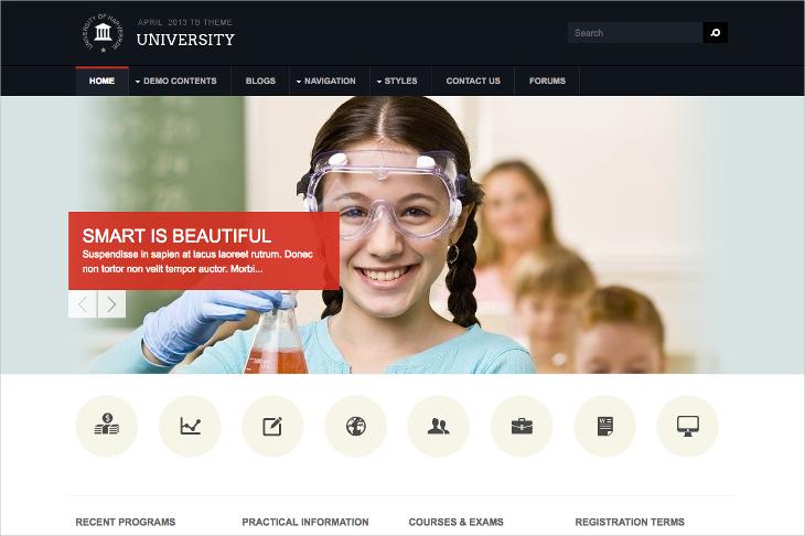 university education drupal theme