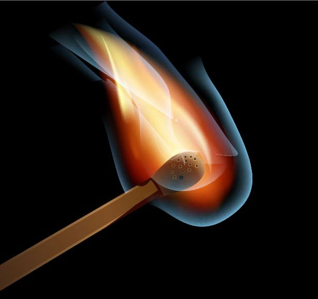 matchstick flame vector