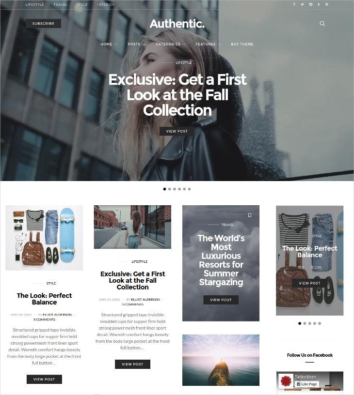lifestyle magazine blog theme