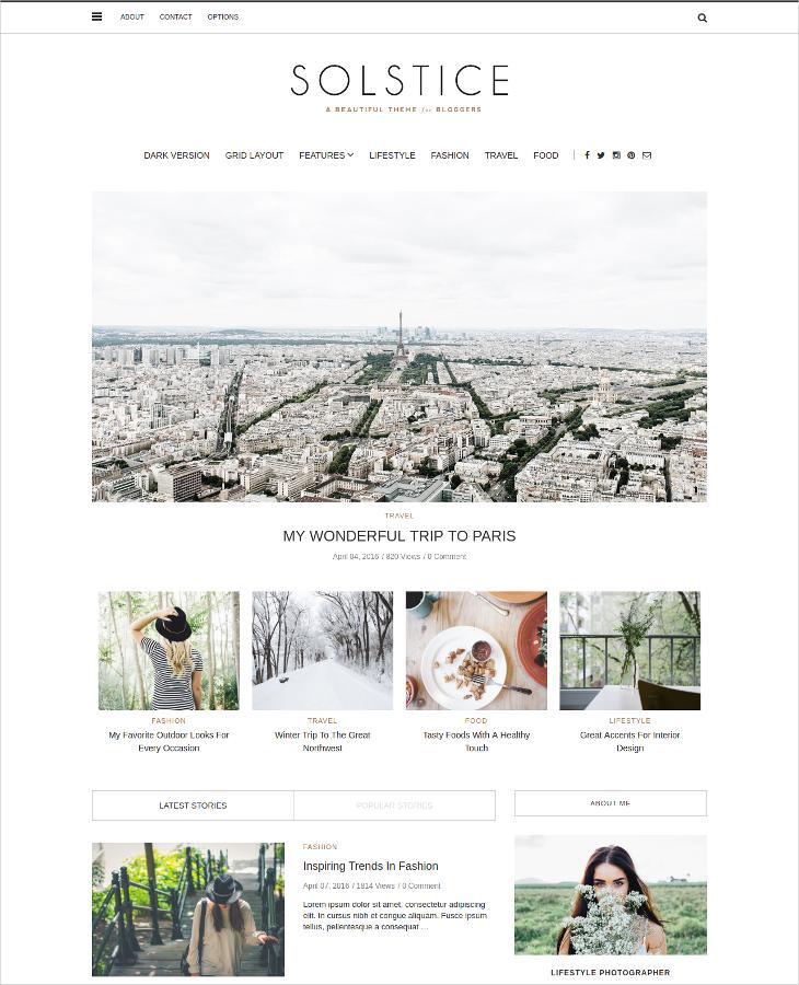 responsive personal blog theme