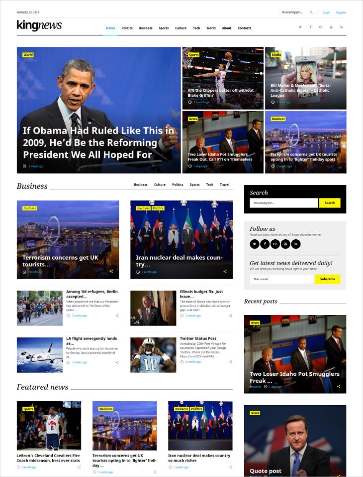 news magazine blog theme
