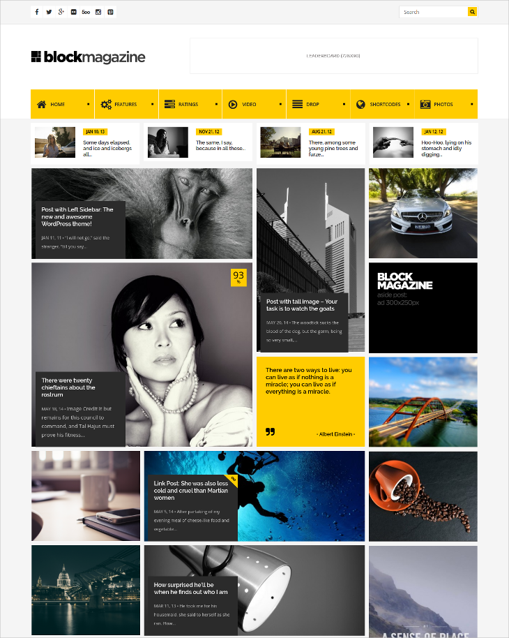 minimal magazine blog theme