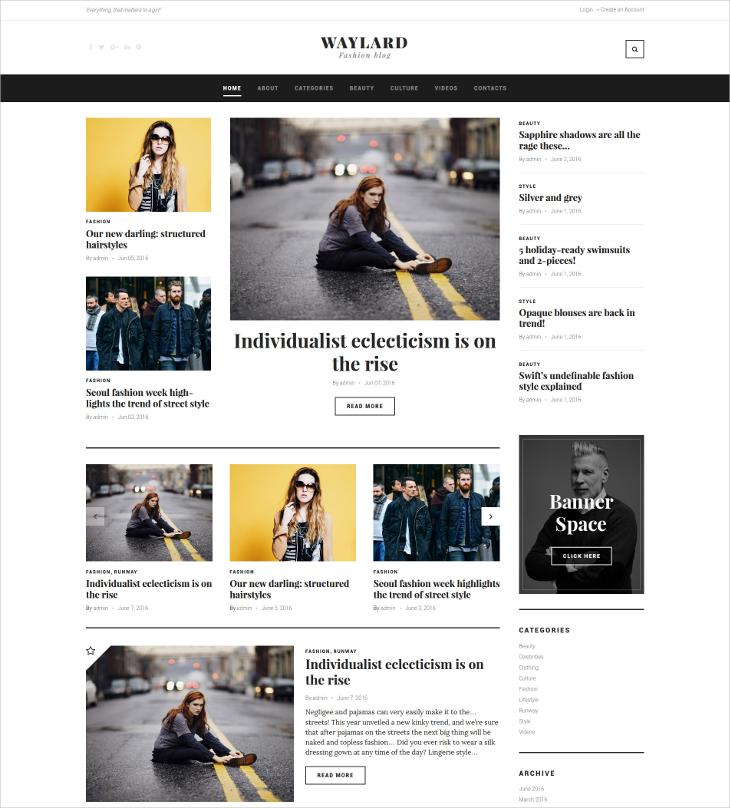 fashion magazine blog theme