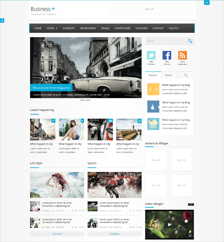 business magazine blog theme