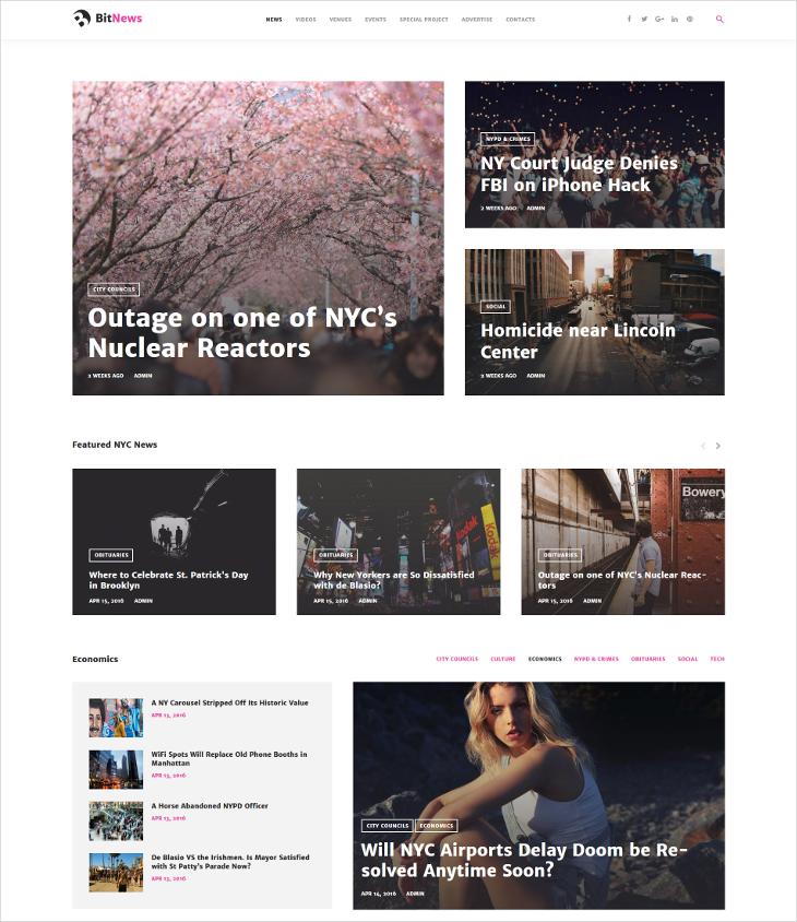 blog magazine news portal wordpress theme