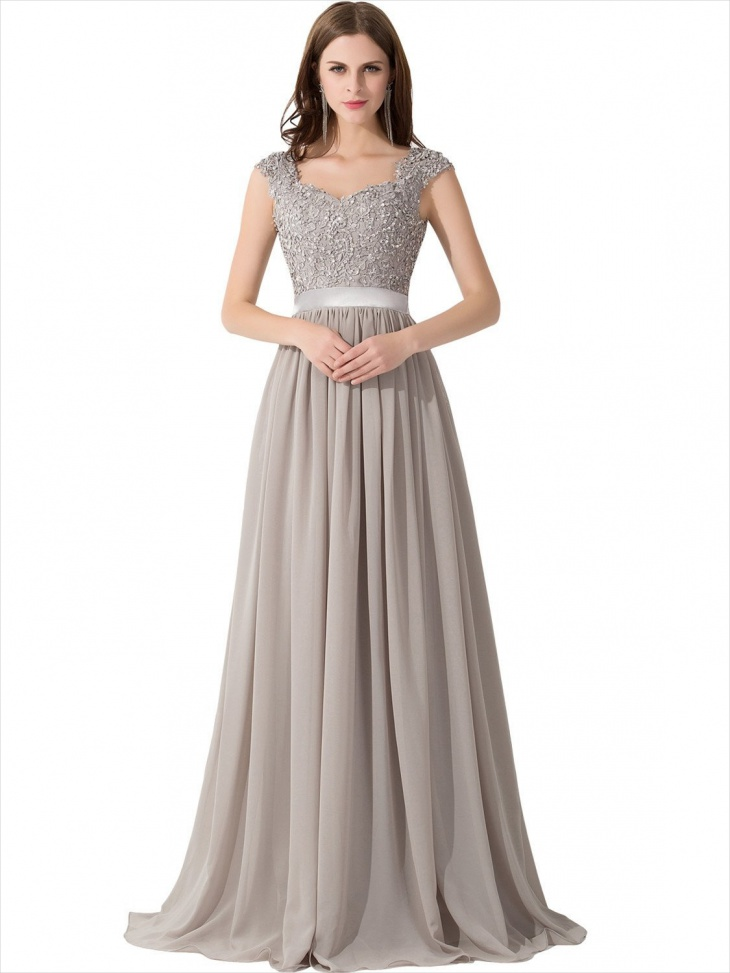 cap sleeve prom dress
