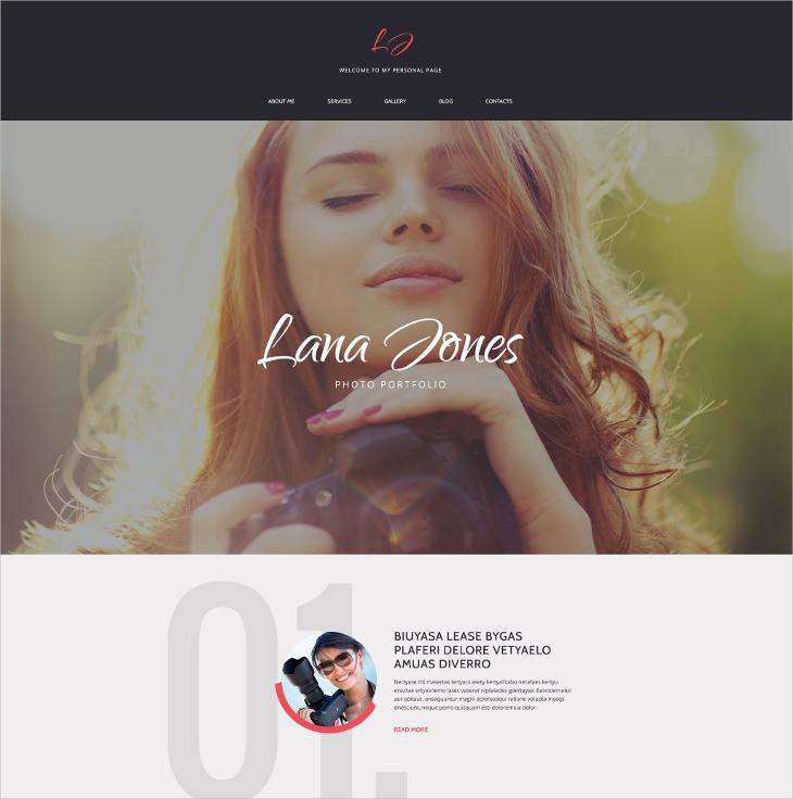 photographer portfolio drupal template
