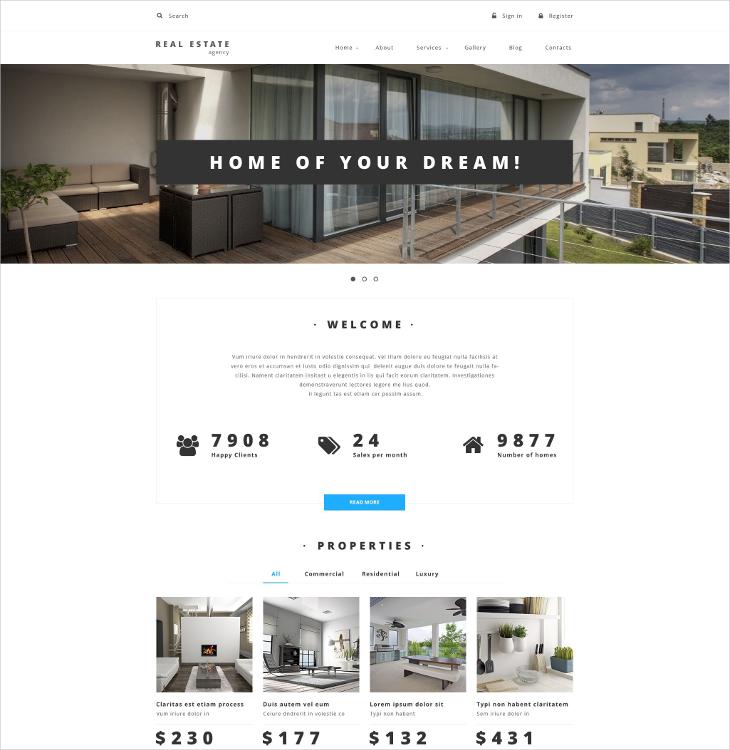 property provider portfolio drupal template