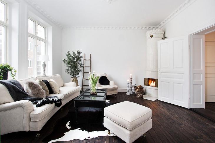 White Corner Fireplace