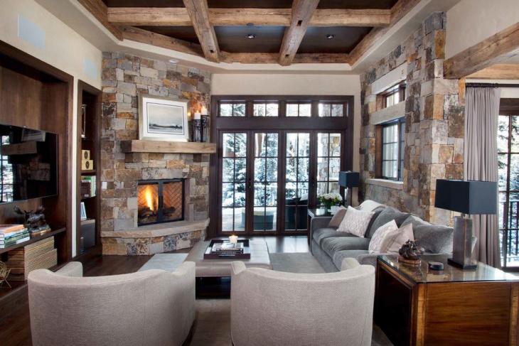granite corner fireplace