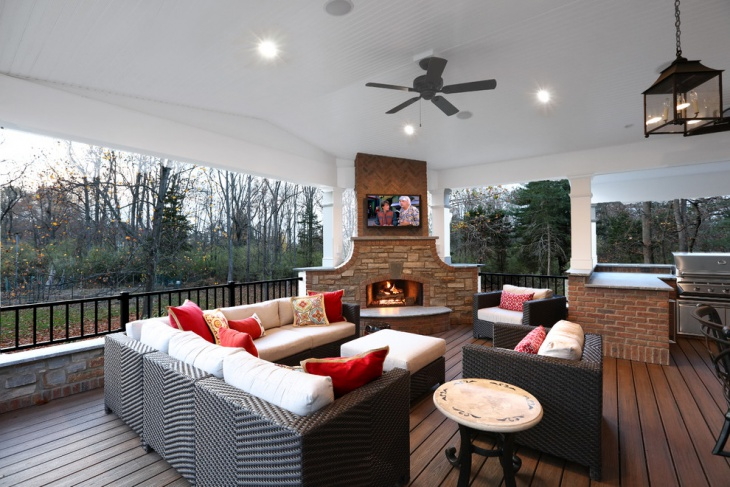 17 corner fireplace designs ideas design trends - Outdoor fireplace with tv ...