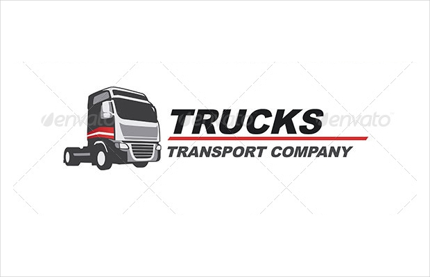 trucking company logo design