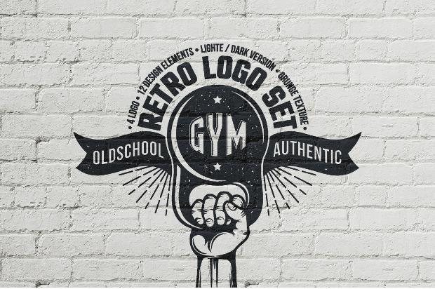 retro fitness logo