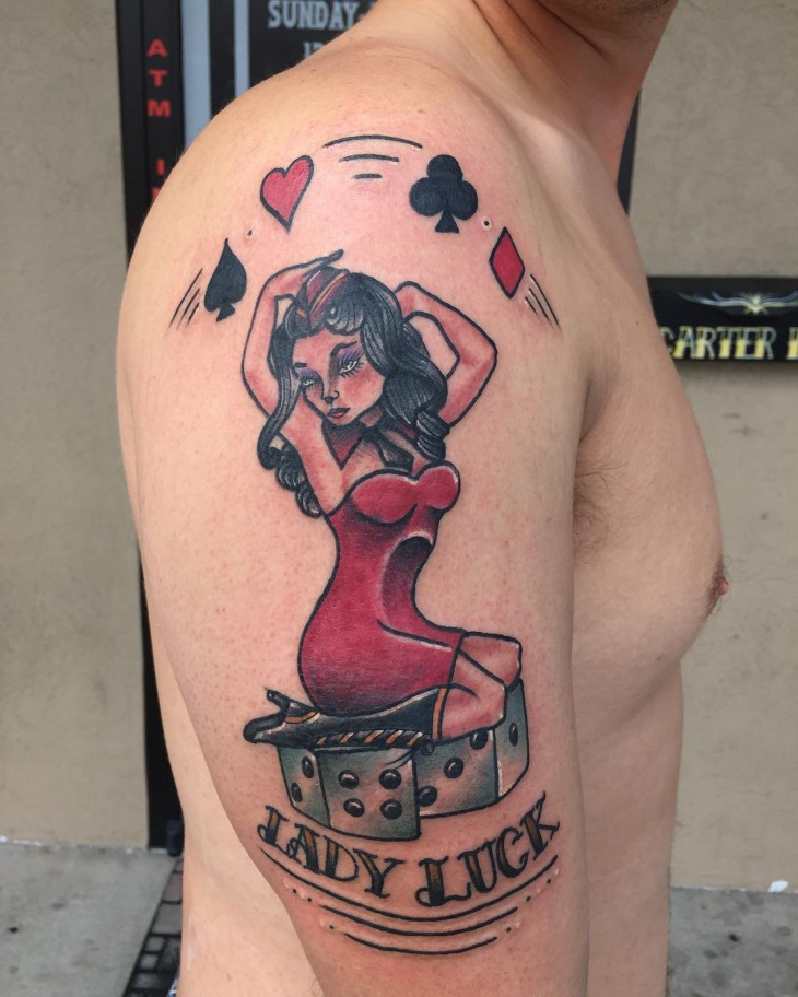 Pin Up Tattoo Design for Men
