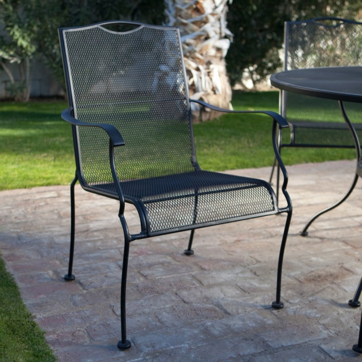 Wrought Iron Dining Chair Design