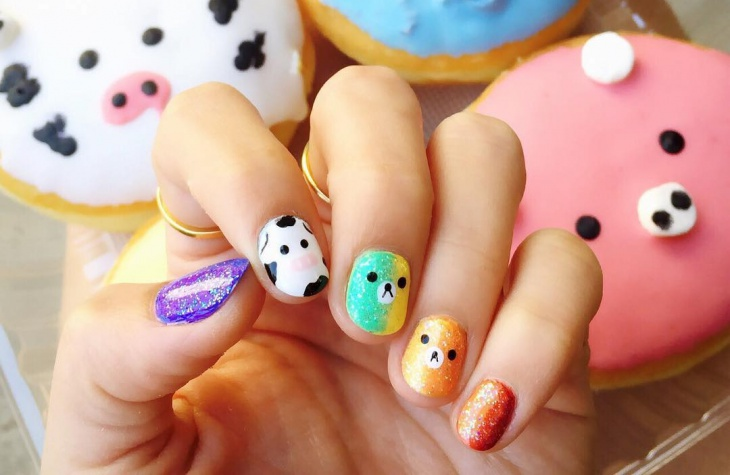 Cute Animal Nail Design