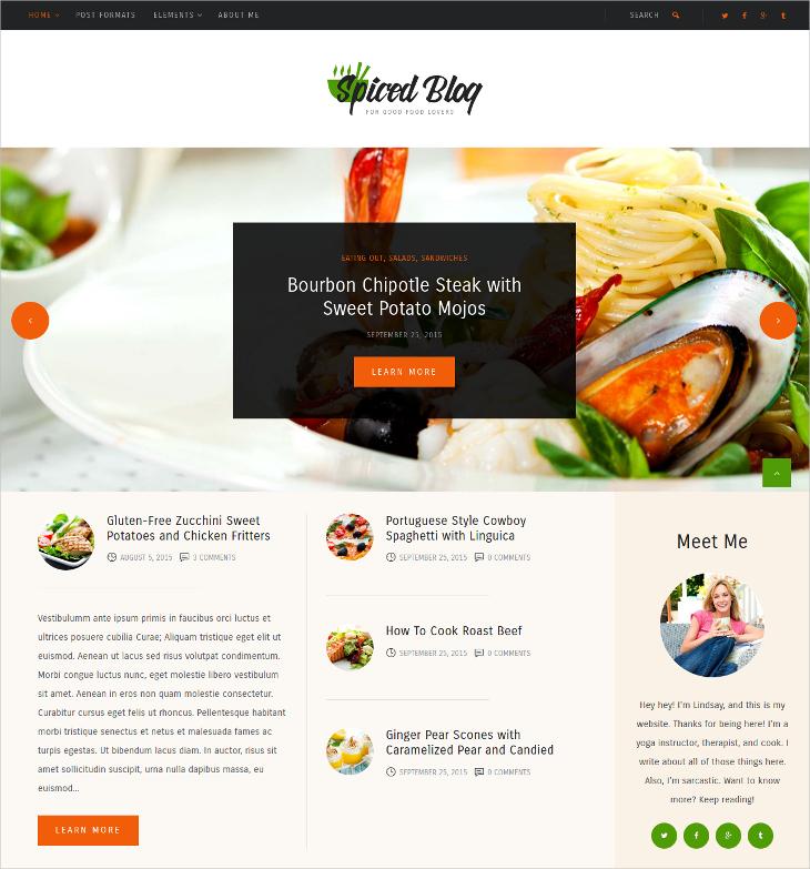 recipes food personal blog