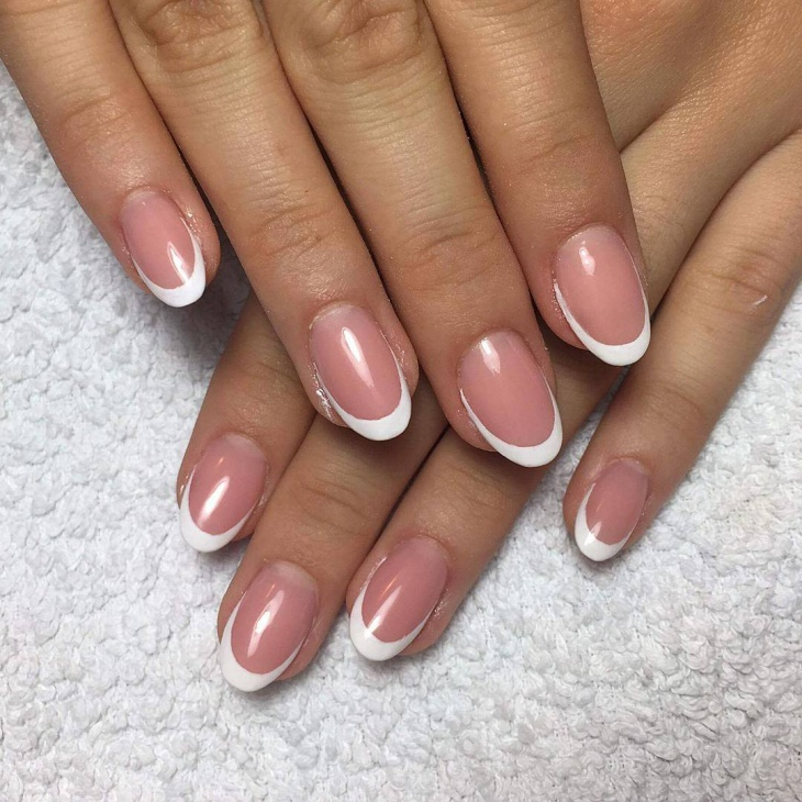 short oval nail design