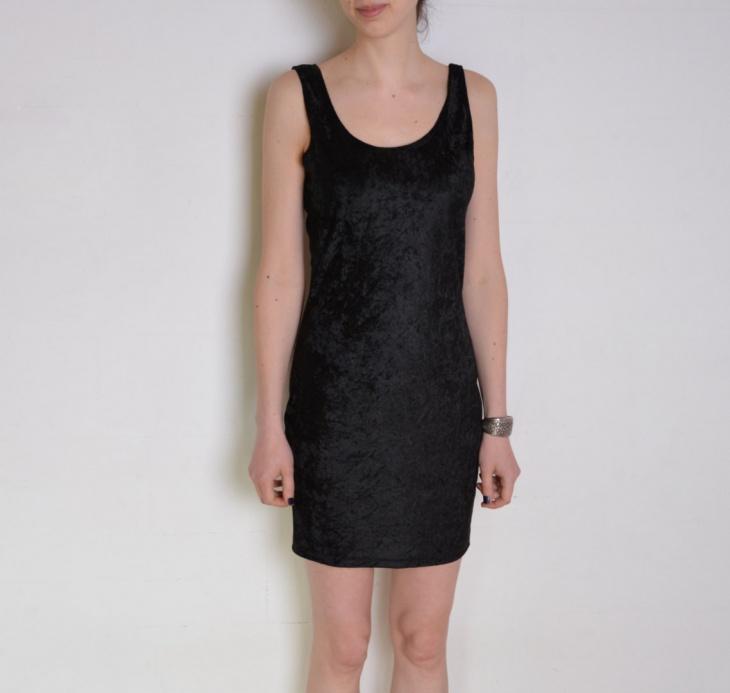 velvet tank dress