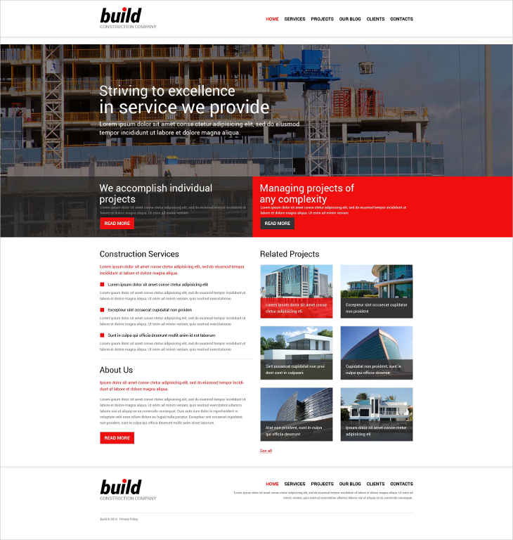 responsive construction company joomla template