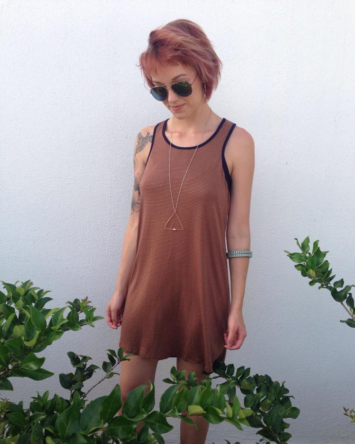 mini tank dress idea