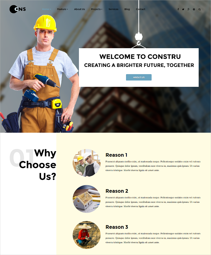 modern engineering construction joomla template