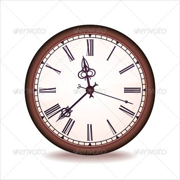 vintage clock vector design