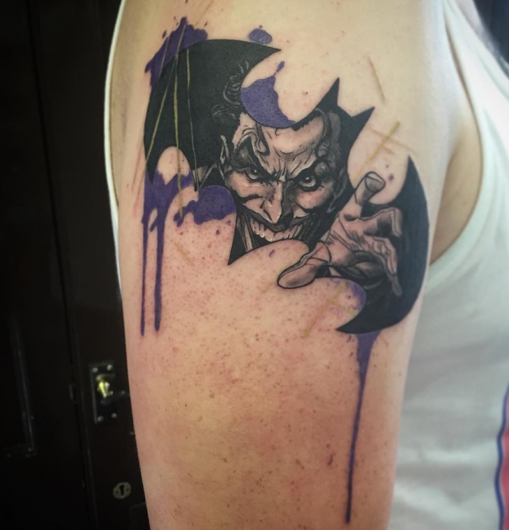 Batman Sleeve Tattoo Design