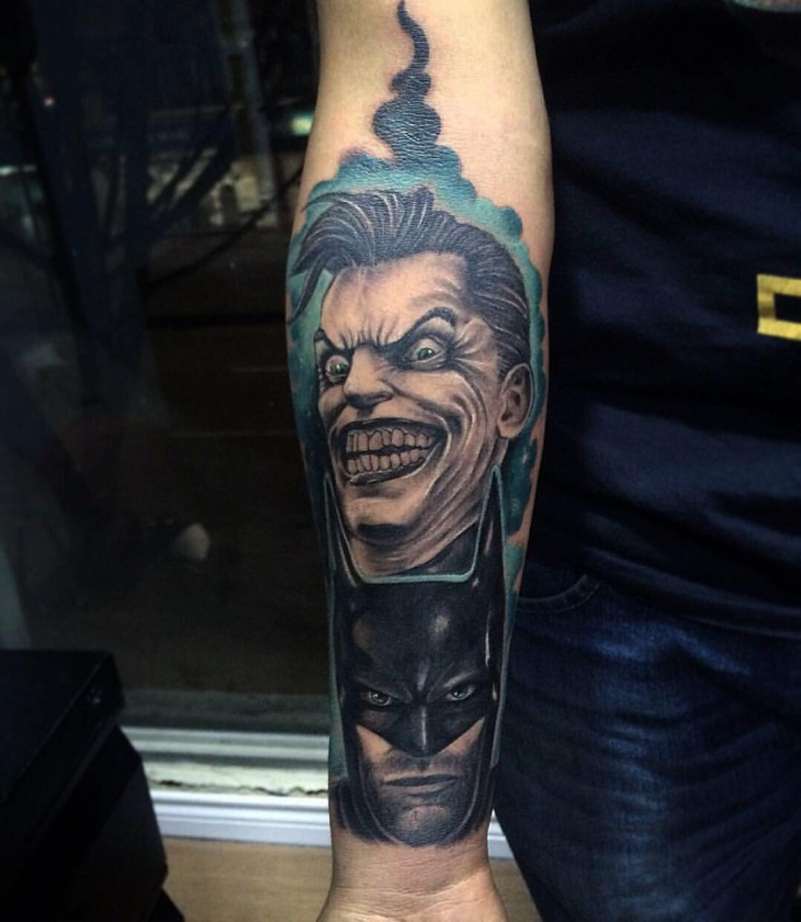 Batman Tattoo on Wrist