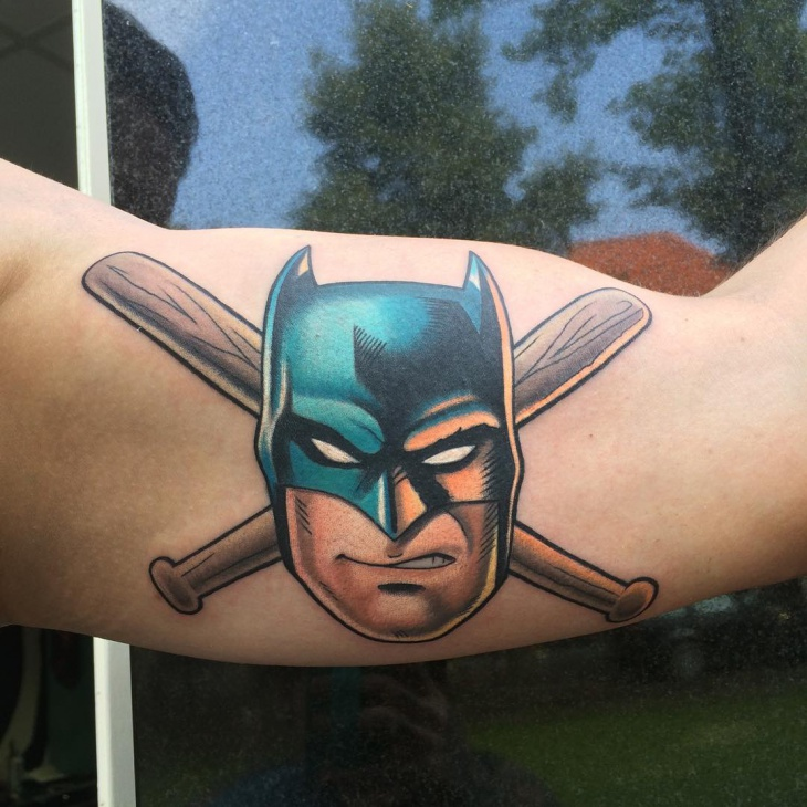 Batman Arm Tattoo Design