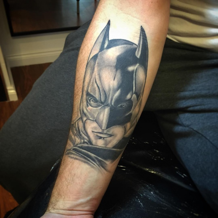 Batman Tattoo on Forearm