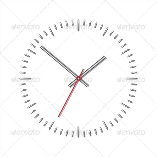 Mechanical Wall Clock Vector