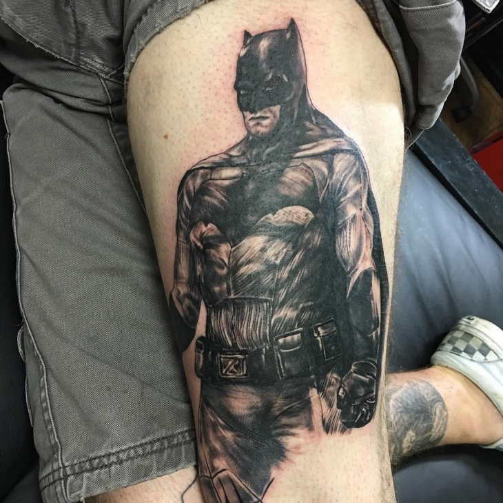 Batman Tattoo for Thigh