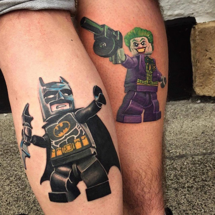 Batman Tattoo for Leg
