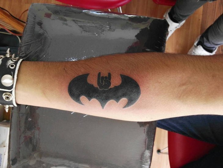 Blackwork Batman Tattoo