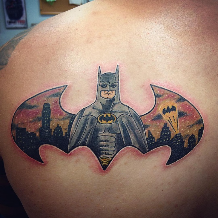 Batman Tattoo on Shoulder