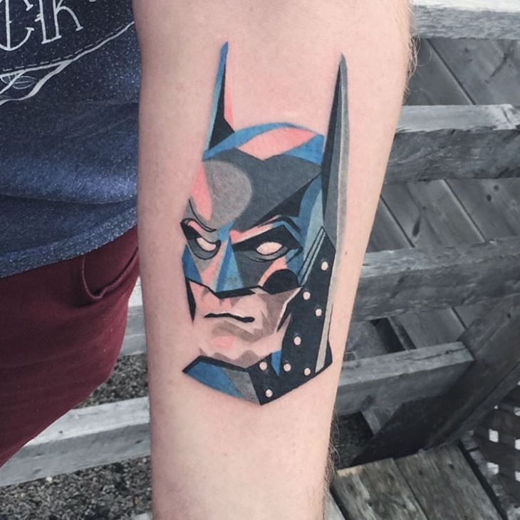 Geometric Batman Tattoo