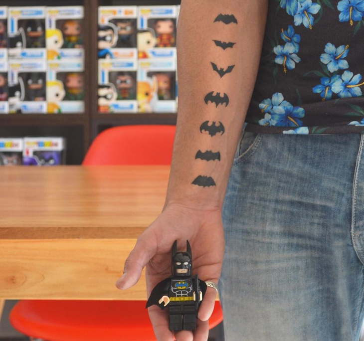 Simple Batman Tattoo Idea