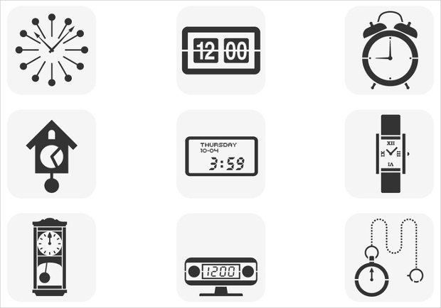 clock vectors collection
