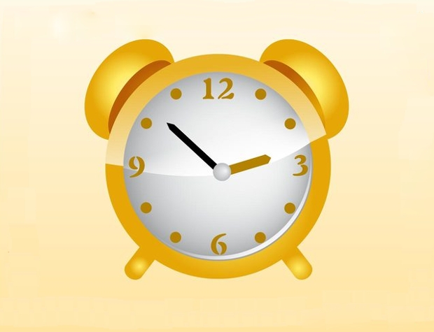 golden alarm clock vector