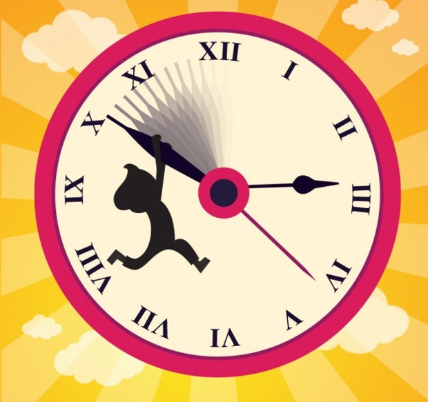 set the clock back vector