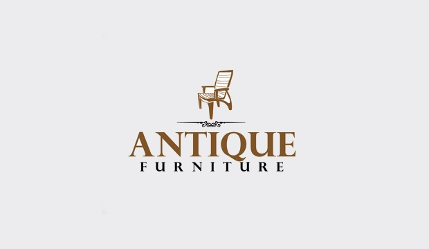 vintage furniture logo design,
