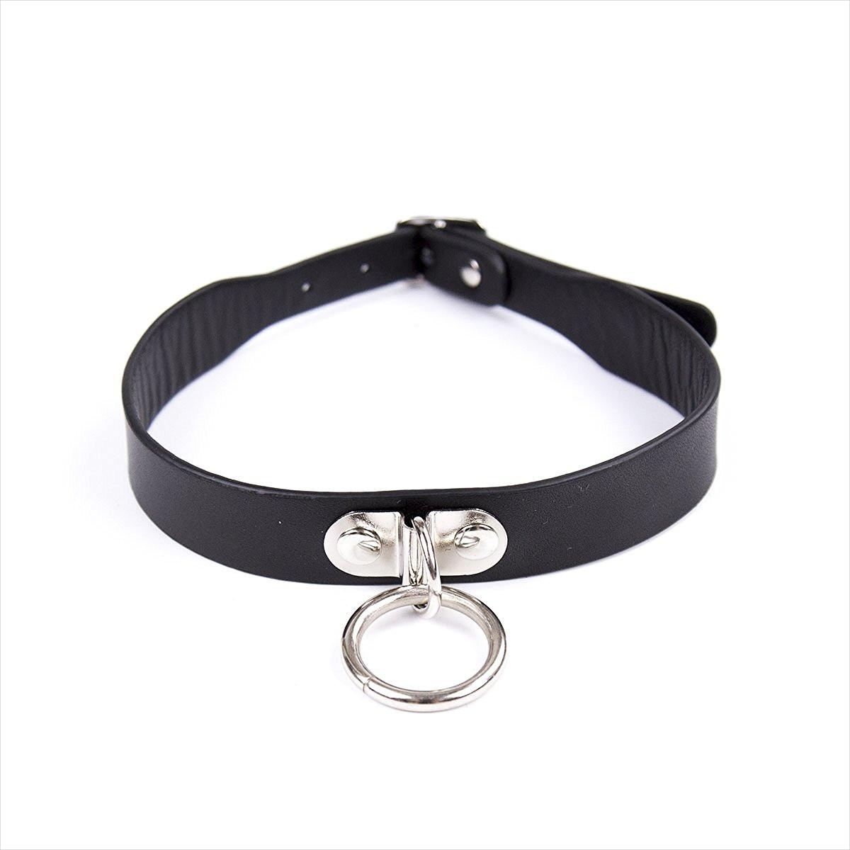 black leather necklace design