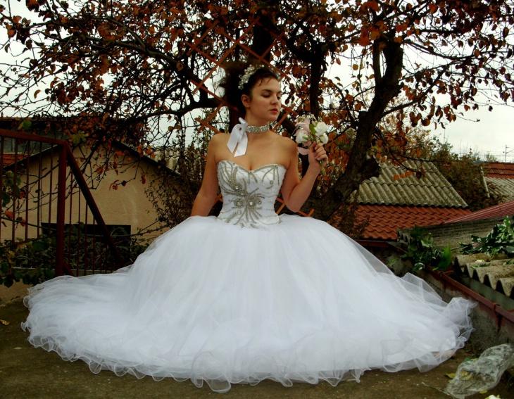 rhinestone tulle dress
